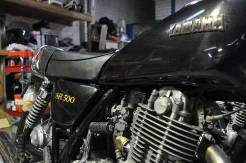 Limited Edition SR500 engine view